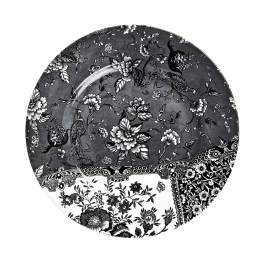 Burleigh Engravers Collection Black Dinner Plate