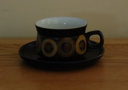 Denby Arabesque  Breakfast Cup and Saucer