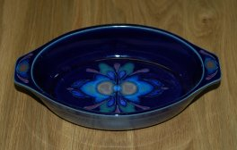 Denby Baroque  Small Oval Dish - square end handles