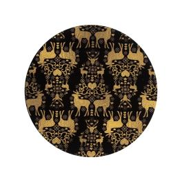Denby Accessories Black and Gold Christmas Coasters - Set of 6