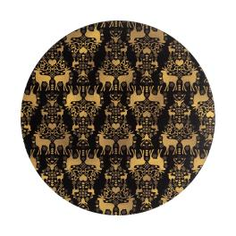 Denby Accessories Black and Gold Christmas Placemats - Set of 6