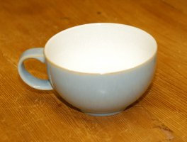 Denby Blue Jetty White Tea Cup