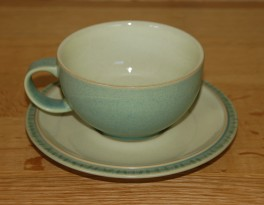 Denby Calm Light Green Tea Cup and Saucer