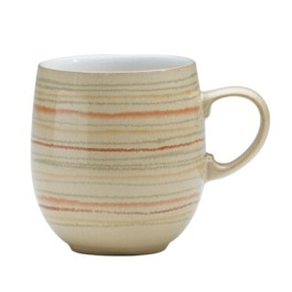 Denby Caramel Stripes Large Curve Mug