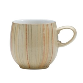 Denby Caramel Stripes Small Curve Mug
