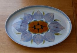 Denby Chatsworth  Oval Plate - 12.5 inch