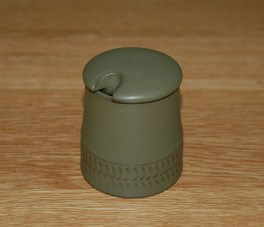 Denby Chevron  Mustard Pot
