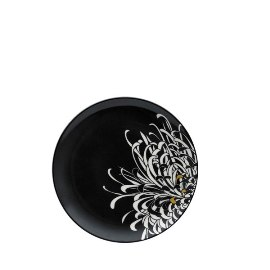 Denby Monsoon Chrysanthemum Charcoal Medium Plate