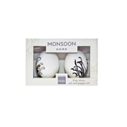 Denby Monsoon Chrysanthemum  Salt and Pepper in Gift Box