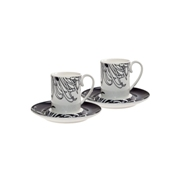 Denby Monsoon Chrysanthemum  Espresso Cup and Saucer x 2 in Gift Box
