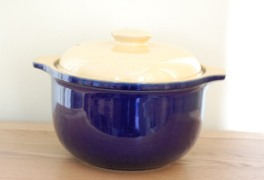 Denby Classic Blue - With Yellow Lid Casserole Dish - Large