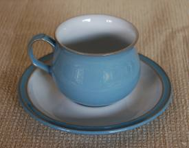 Denby Colonial Blue  Tea Cup and Saucer