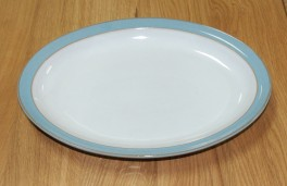 Denby Colonial Blue  Oval Plate