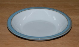 Denby Colonial Blue  Rimmed Bowl