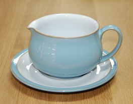 Denby Colonial Blue  Sauce Jug and Saucer