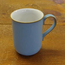 Denby Colonial Blue  Straight Mug - ? shaped handle