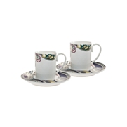 Denby Monsoon Cosmic  Espresso Cup and Saucer x 2 in Gift Box