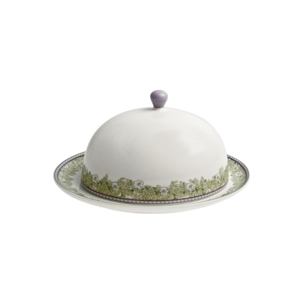Denby Monsoon Daisy Green  Butter Dish