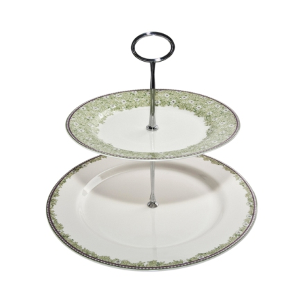 Denby Monsoon Daisy Green  Cake Stand