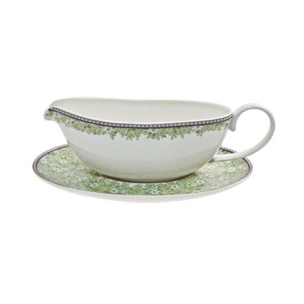 Denby Monsoon Daisy Green  Sauce Jug and Saucer