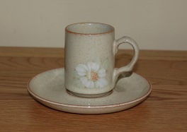 Denby Daybreak (Older colour, paler rim) Coffee Can & Saucer
