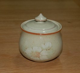 Denby Daybreak (Older colour, paler rim) Covered Sugar