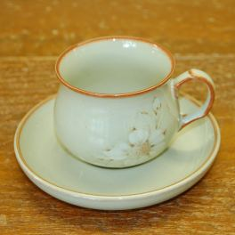 Denby Daybreak (Newer colour - browner rim) Tea Cup and Saucer