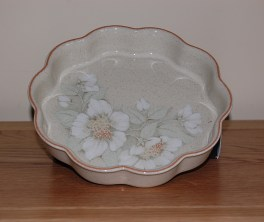 Denby Daybreak (Newer colour - browner rim) Flan Dish - Large