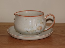 Denby Daybreak (Newer colour - browner rim) Sauce Jug and Saucer