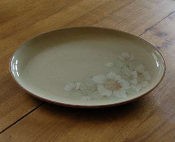 Denby Daybreak (Older colour, paler rim) Oval Plate - 12.75 inch