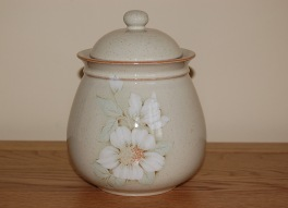 Denby Daybreak (Newer colour - browner rim) Storage Jar - Large