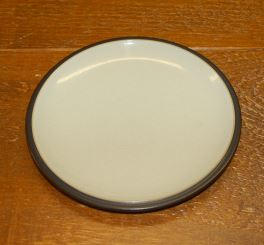 Denby Energy Charcoal/White Salad/Dessert Plate
