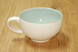 Denby Energy White/Green Breakfast Cup
