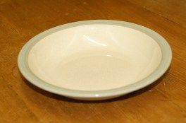Denby Energy White/Green Rimmed Bowl