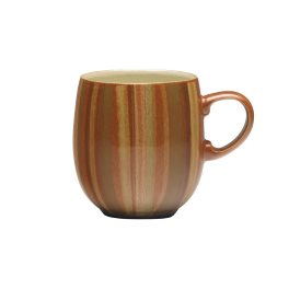 Denby Fire Stripes Large Curve Mug
