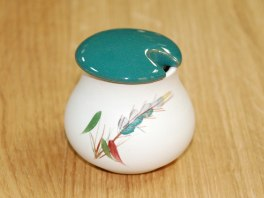 Denby Greenwheat  Mustard Pot
