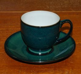 Denby Greenwich Discontinued Espresso Cup & Saucer