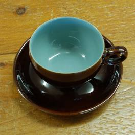 Denby Homestead Brown  Tea Cup and Saucer