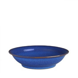 Denby Imperial Blue  Medium Shallow Bowl