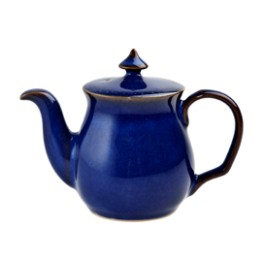 Denby Imperial Blue Discontinued Salt Pot