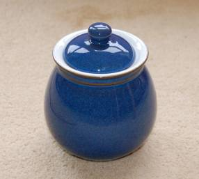 Denby Imperial Blue Discontinued Spice Jar