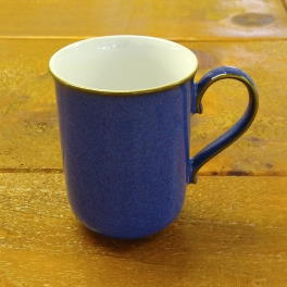 Denby Imperial Blue Discontinued Straight Mug - ? shaped handle