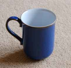 Denby Imperial Blue Discontinued Straight Mug