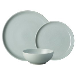 Denby Intro Pale Blue  tableware 12 piece set
