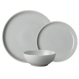 Denby Intro Soft Grey  tableware 12 piece set