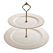 Denby Monsoon Lucille Gold  Cake Stand