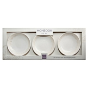 Denby Monsoon Lucille Gold  Dipping Bowl x 3 in Gift Box