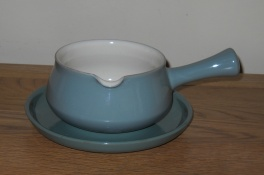 Denby Manor Green  Sauce Jug and Saucer