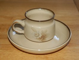 Denby Memories (Older style, slight speckles) Coffee Cup and Saucer