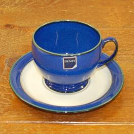 Denby Metz Green Breakfast Cup and Saucer